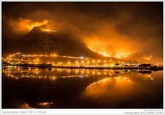 Views of the 2015 fires in the Muizenberg mountain as seen from Zandvlei Nature Reserve. Table Mountain, Mountain Hiking, Horse Farms, Nature Reserve, Rock Climbing, Cape Town, Bouldering, Countryside, South Africa