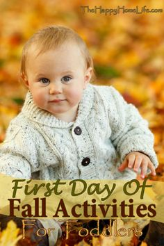 First Day Of Fall Activities For Toddlers - Follow some of these first day of Fall activities for toddlers. A great way to bring in the new changing of the seasons.