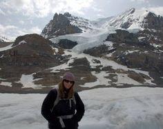 On the Athabasca Glacier in Jasper, CA