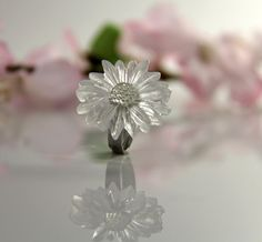 Statement Ring Flower Ring Resin Ring Daisy Ring by JasmineThyme, $20.00