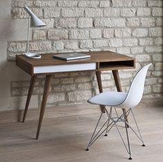 #bureau design moderne épuré en bois