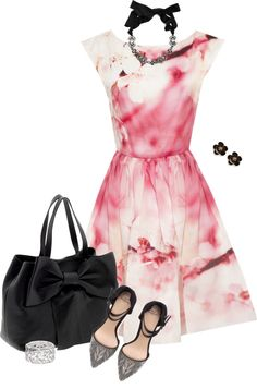 """""""Cherry Blossom Dress"""" by theclosetbychristie ❤ liked on Polyvore"""