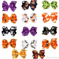 New!!!14 Style Halloween Barrettes Hair Accessories 8*4cm Grosgrain Ribbon Bowknot Hair Clips Accessories Grosgrain With Alligator Clips Bridesmaids Hair Accessories Babies Headbands Hair Accessories From Ginnystore, $0.35| Dhgate.Com