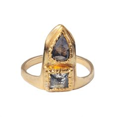 Yellow Gold and Mixed Diamond Ring