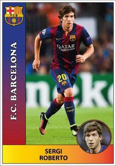 Barcelona - Sergi Roberto Sergi Roberto, Messi, Barcelona, Baseball Cards, Sports, Picture Cards, Fc Barcelona, Hs Sports, Excercise