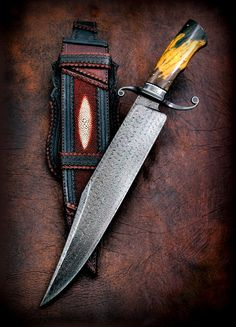 "Bowie 14"" Damascus Turkish - claudio-cas"
