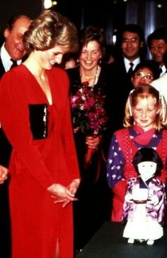 November 27, 1985 Beautiful Princess with Prince Charles open the Festival of Contemporary Japanese Culture at the Barbican Centre in London.