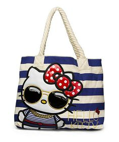 Look what I found on #zulily! Hello Kitty Nautical Tote by Hello Kitty #zulilyfinds