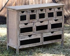 Rustic Storage, or The 1x2 Dresser. Free plans at Ana-White.com