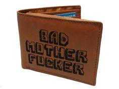 Free Custom Initials Engraving - Pulp Fiction Bad Mother Fucker Wallet