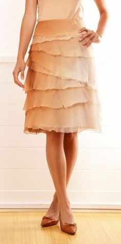 .Really like this skirt, so soft and feminine