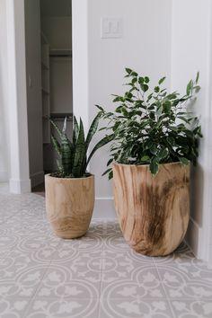ARRIVALSBECKI OWENS Wooden pots and plants.Wooden pots and plants.