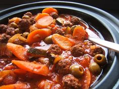 Tagine is a North African dish of Berber origin (Tajin) named after the earthenware pot within which it is cooked and the mainstay of Moroccan cuisine.