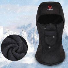 Mens Winter Warm Fleece Full Hood Face Mask