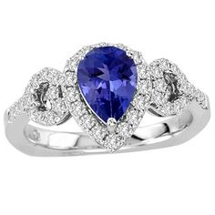 Pear Tanzanite Rings Collection
