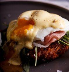 Eggs Benedict on Hash browns