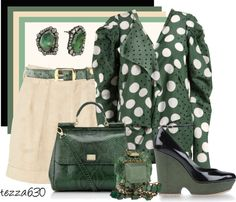 """Just Cuz Green"" by tezza630 on Polyvore"
