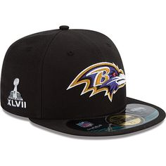 ece457229a7 Ravens Super Bowl XLVII Onfield 59FIFT Football Structured Fitted Hat Super  Bowl Xlvii