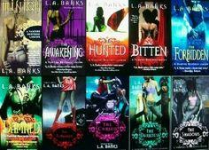 Vampire huntress novel series;  L.A. Banks