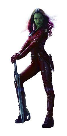 Gamora, played by Zoe Saldana in Marvel's Guardians of the Galaxy. #ZoeSaldana #Marvel #GuardiansOfTheGalaxy