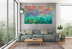 Red twilight – XL colorful palette knife abstract painting Golden Color, Palette Knife, Twilight, Things To Come, Colorful, The Originals, Abstract, Room, Pictures