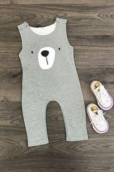 3892d6a7b Gray Bear Infant Romper. Toddler Girl OutfitsToddler FashionKids Fashion  BoyToddler ...