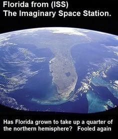 Flat Earth Fun Please do your own research to see if this is a true pic from the ISS. not a true pic because that is never an option. but if this pic is an actual NASA release.