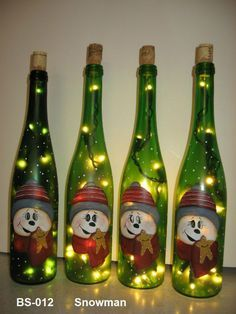 Click to Close Wine Bottle Design, Wine Bottle Gift, Glass Bottle Crafts, Bottle Art, Painted Wine Bottles, Lighted Wine Bottles, Wine Glass, Decorated Bottles, Christmas Wine Bottles
