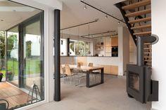 Neubau Einfamilienhaus modern-wohnbereich