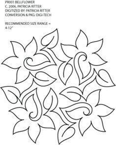 Bellflower Motif 1 by Patricia Ritter of Urban Elementz PR001