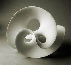 'Loop 712' by Swedish sculptor Eva Hild (b.1966). Stoneware, 28.5 x 37 x 29 in. via artnet