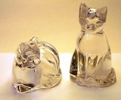 Crystal cats--Gorham from Germany