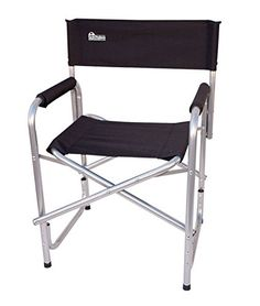 Earth Extra Heavy Duty Folding Directors Chair w Extra HeavyDuty Steel Reinforced Frame  Foam Arm Rests for Comfort * You can get more details by clicking on the image. #CampingFurniture