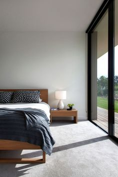 Blairgowrie 2 is a home located on the Mornington Peninsula, Victoria, Australia. It was designed by InForm in 2014. #bedroom #interior #home