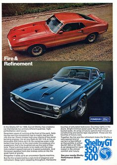 1969 Ford Shelby GT 350 500 Advertising Road & Track June 1969