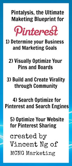 Pintalysis: The Ultimate Marketing Blueprint for Pinterest Marketing These were created by Vincent Ng.  For more info go to his page.