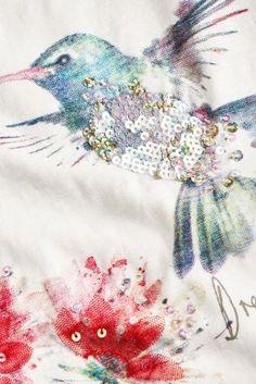Buy Ecru Bird Print T-Shirt (3-16yrs) online today at Next: United States of America