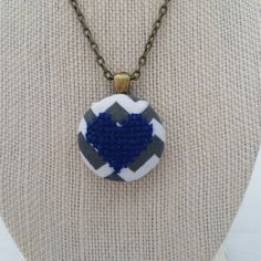 More cross stitch pendants available today!