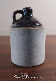 Antique Miniature Stoneware Moonshine Jug Never Opened! #Unknown