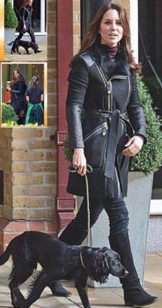13 November 2012 - Kate at Starbucks in London with Lupo