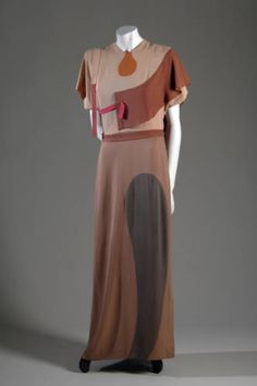 1928 Evening gown, silk crepe Adrian.