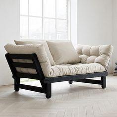 Futon Sofa- Black/Natural - alt_image_two