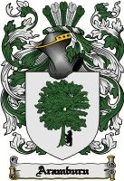 Aramburu Family Crest / Coat of Arms #apparel #gifts #glassware #embroideries #prints #history #gift #scrolls #mugs #steins #flags #family #reunion #wine #glasses #genealogy #code of arms #shield #mousepads #shirts #t-shirts #jpeg