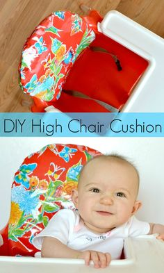 High Chair Cushion DIY- those IKEA high chairs are really uncomfortable for kids, this is the perfect solution!