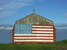 Vermont barn. America - The United States of America - American Flag - Liberty - Justice - Freedom - USA - The US - God Bless America!