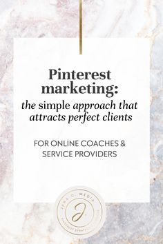 Using Pinterest marketing to get coaching clients? In this article, I'm encouraging you to focus on ONLY the basics - because THAT is my secret formula for getting clients using Pinterest (for online coaches, life coaches, health coaches, service providers, course creators.)