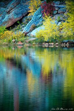 Lily Lake, Colorado, USA  A Quiet Morning In Fall by kkart