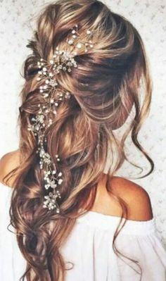 Hair vine. Love this! #wedding #longhair