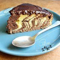 Vanilla and chocolate zebra cake- Gâteau zèbre vanille et chocolat Vanilla and chocolate zebra cake - Cheese Pastry, Pastry Cake, Cake Zebré, French Pastries, Banana Bread, French Toast, Vanilla, Chocolate, Cooking