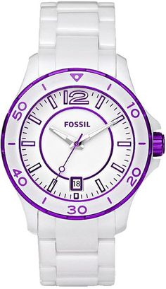 Capri Jewelers Arizona  ~ www.caprijewelersaz.com Fossil Riley Ceramic Women's watch #CE1050